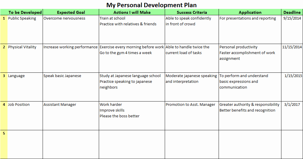 Business Growth Plan Template Awesome Personal Development Plan Templates