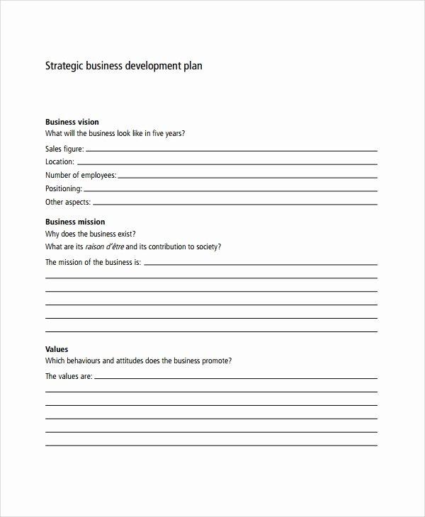 Business Growth Plan Template Inspirational Sample Business Development Plan Template 6 Free