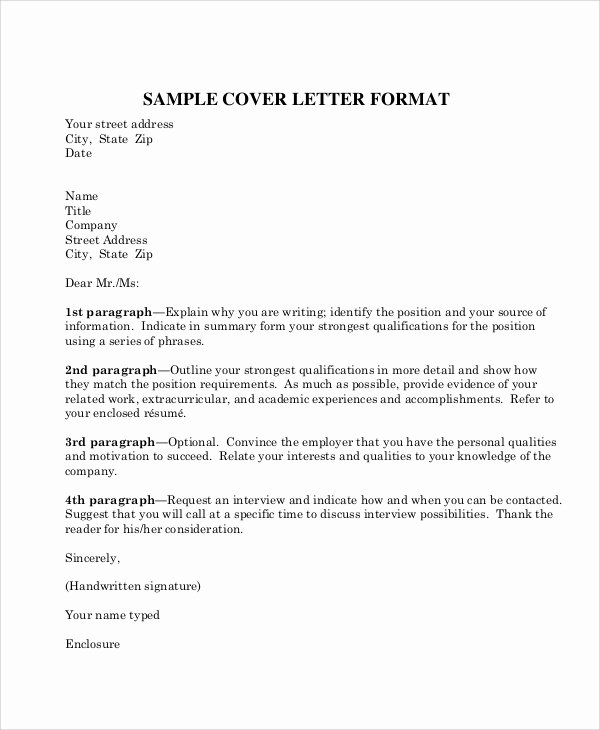 Business Letter format Template Lovely 8 Sample Business Letter formats Pdf Word