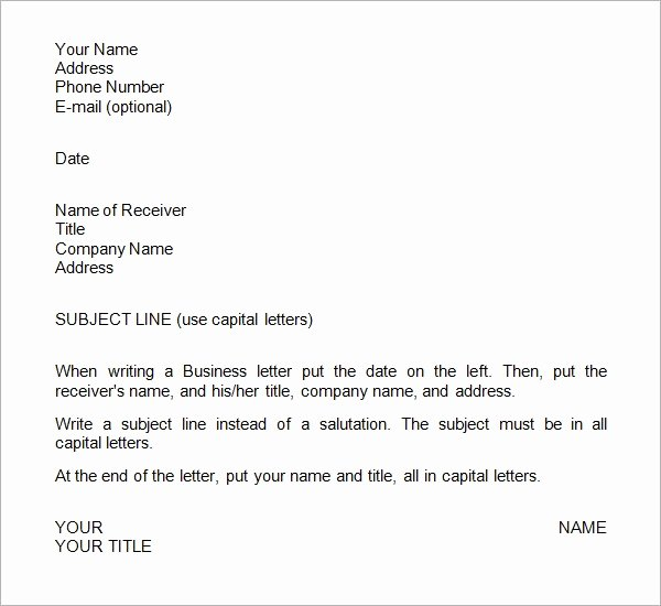 Business Letter format Template Luxury Free 28 Sample Business Letters format In Pdf