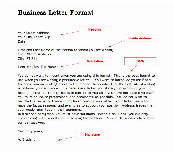 Business Letter format Template New 20 formal Letter Templates Word Pdf Apple Pages