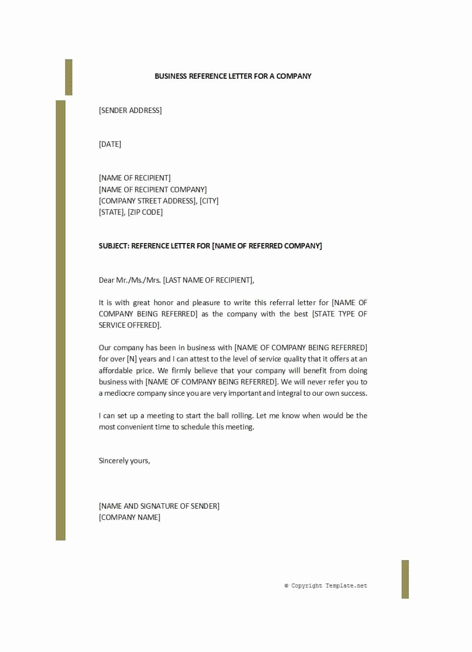 Business Letter Of Recommendation Template Best Of 45 Awesome Business Reference Letters Template Archive