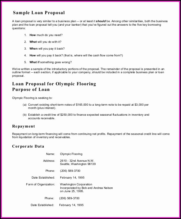 Business Loan Proposal Template Awesome Free Business Proposal Template Ppt Template 1 Resume