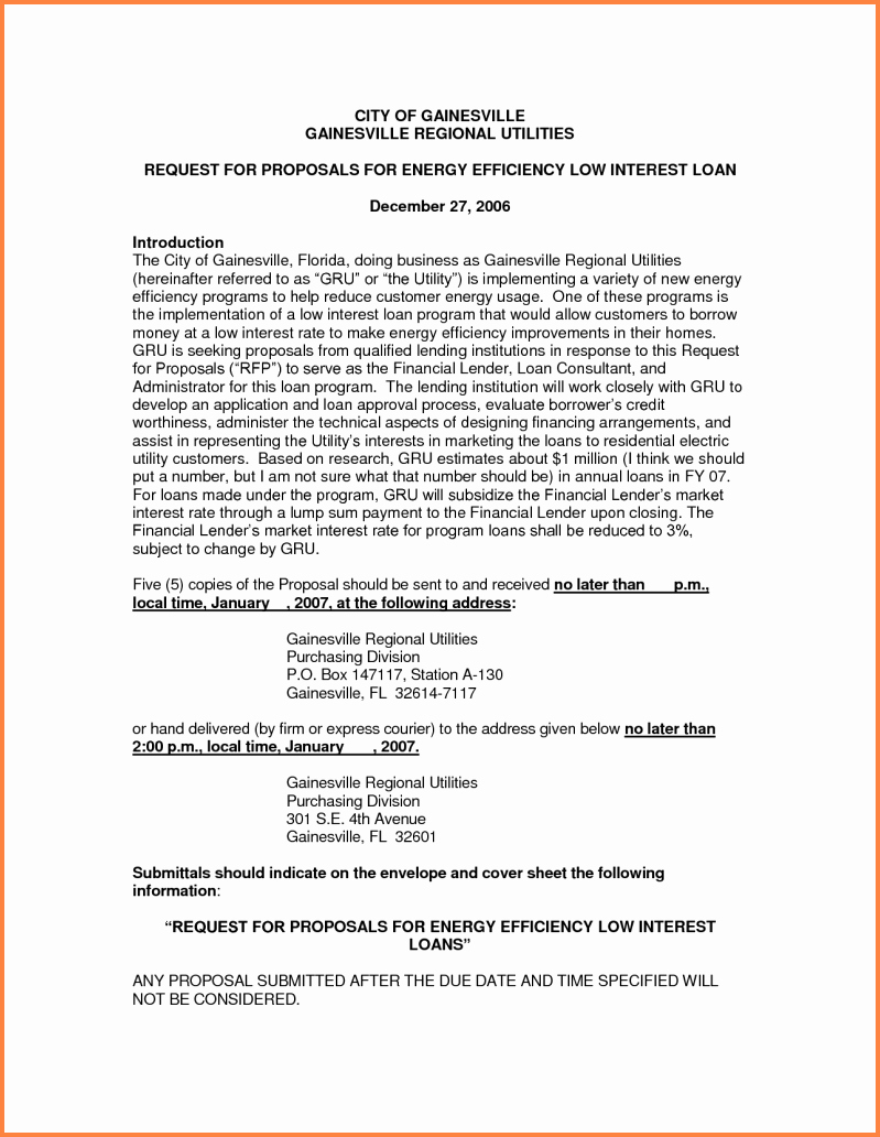 Business Loan Proposal Template Best Of 10 Business Loan Proposal