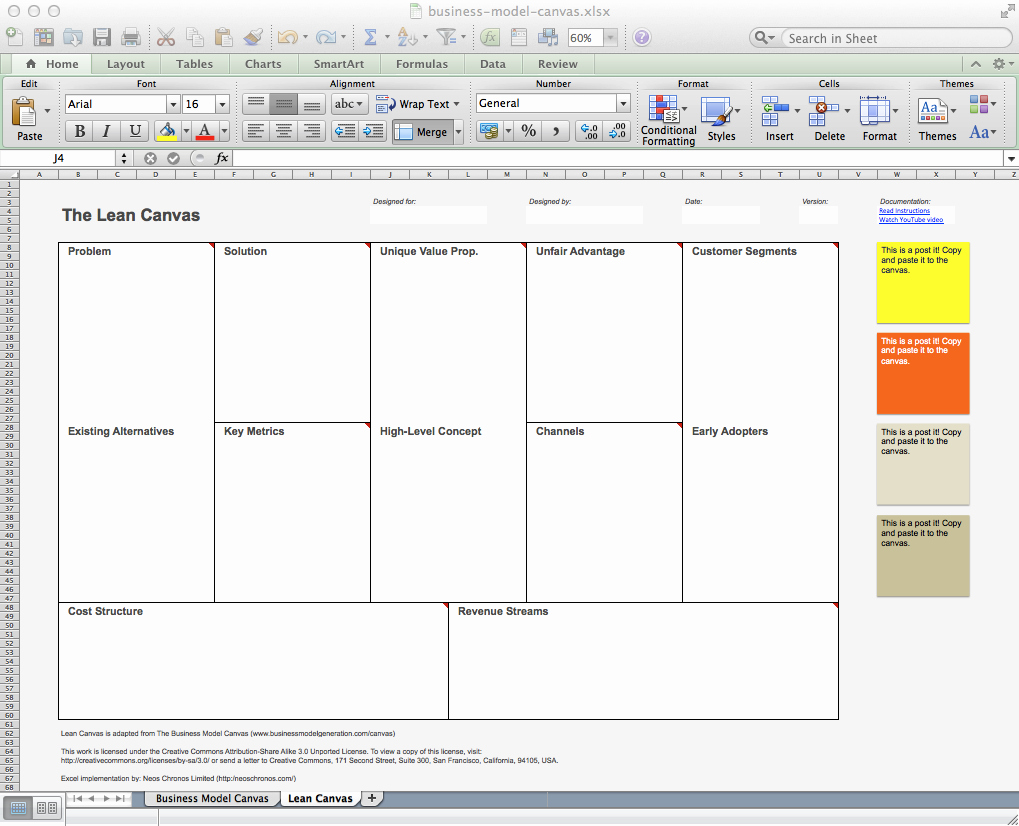 Business Model Template Word Beautiful Business Model Canvas and Lean Canvas Templates