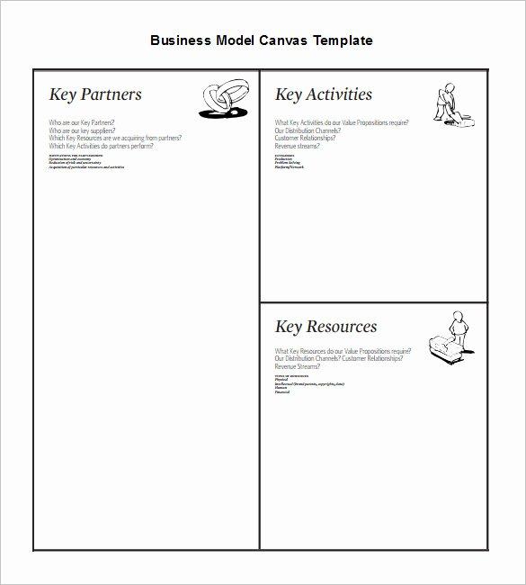 Business Model Template Word Elegant 20 Business Model Canvas Template Pdf Doc Ppt