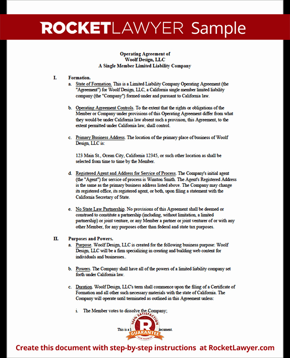 Business Operating Agreement Template Awesome Llc Operating Agreement Template Florida In Word and Pdf