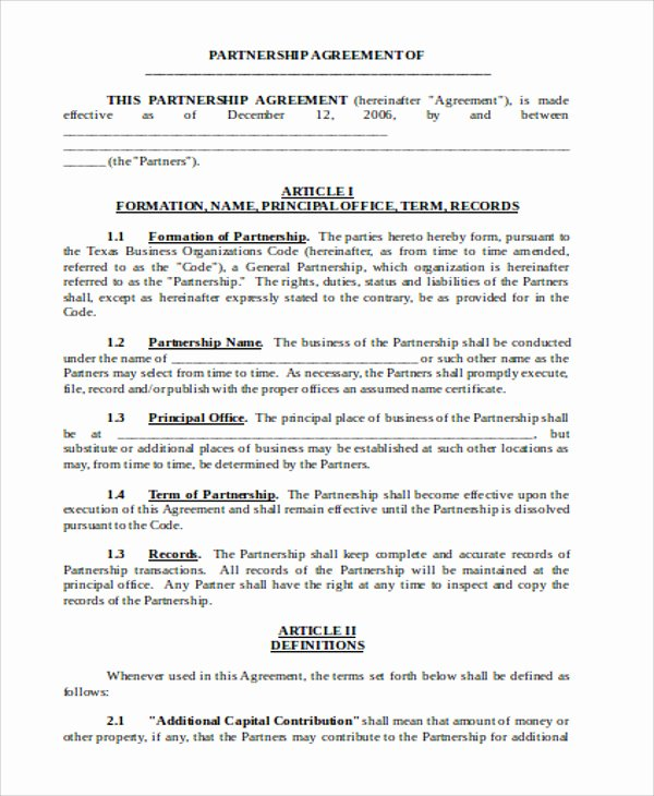 Business Operating Agreement Template Lovely Sample Business Operating Agreements 8 Examples In Word