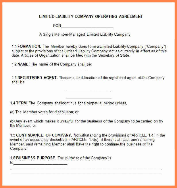 Business Operating Agreement Template Unique 10 Small Business Operating Agreement Template