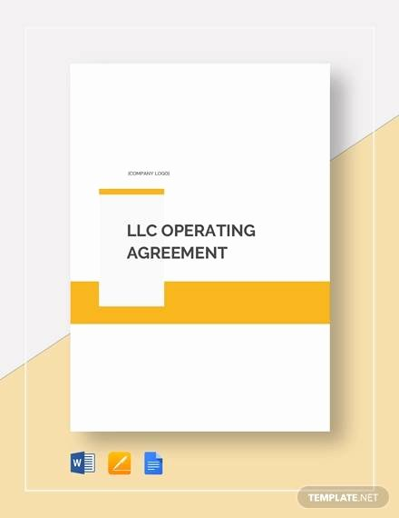 Business Operating Agreement Template Unique Free 11 Sample Operating Agreement Templates In Google