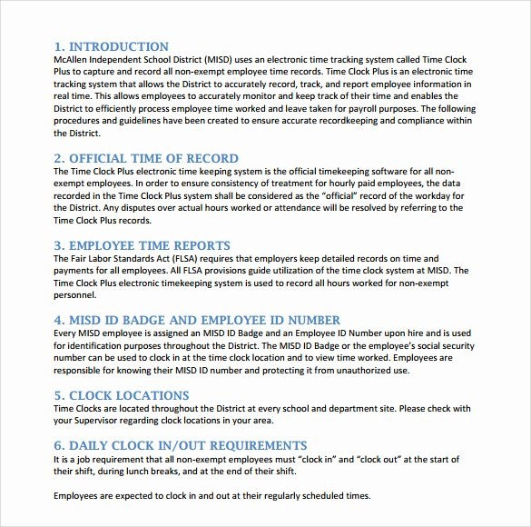 Business Operations Manual Template Fresh Sample Procedure Manuals 8 Documents In Pdf Word