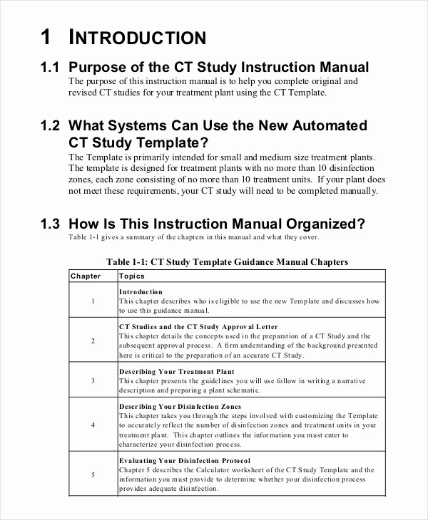 Business Operations Manual Template Inspirational 8 Instruction Manual Templates Free Sample Example
