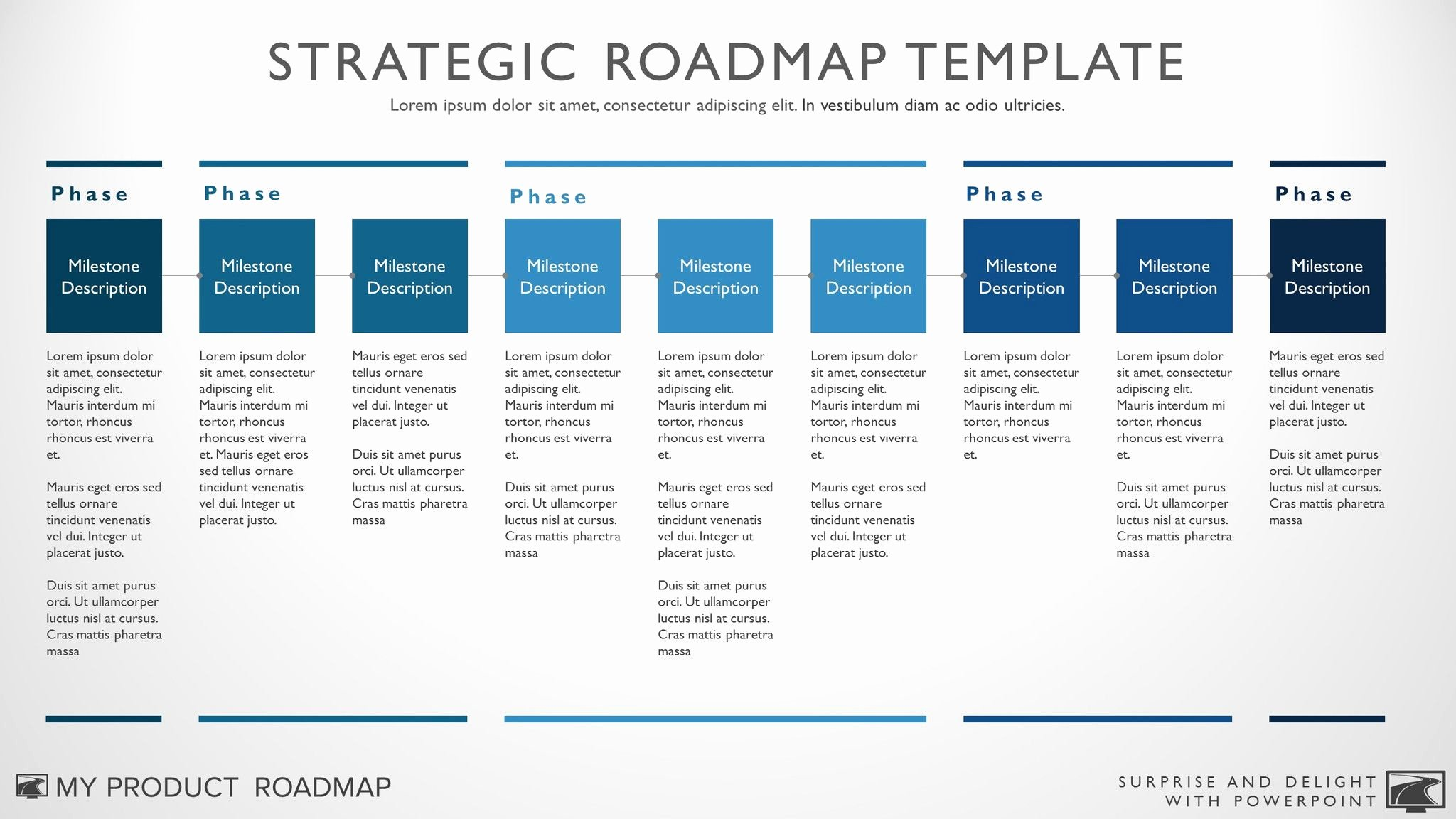 Business Plan Timeline Template Beautiful Nine Phase Business Timeline Roadmapping Presentation