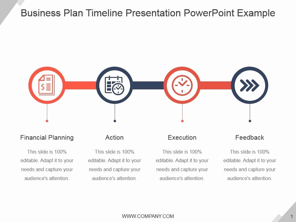 Business Plan Timeline Template Inspirational Style Linear Single 4 Piece Powerpoint