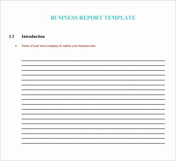 Business Report format Template Beautiful Free 29 Sample Business Report Templates In Word
