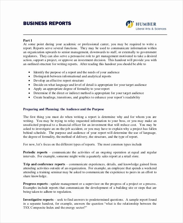 Business Report format Template Elegant 36 Report formats Word Pdf