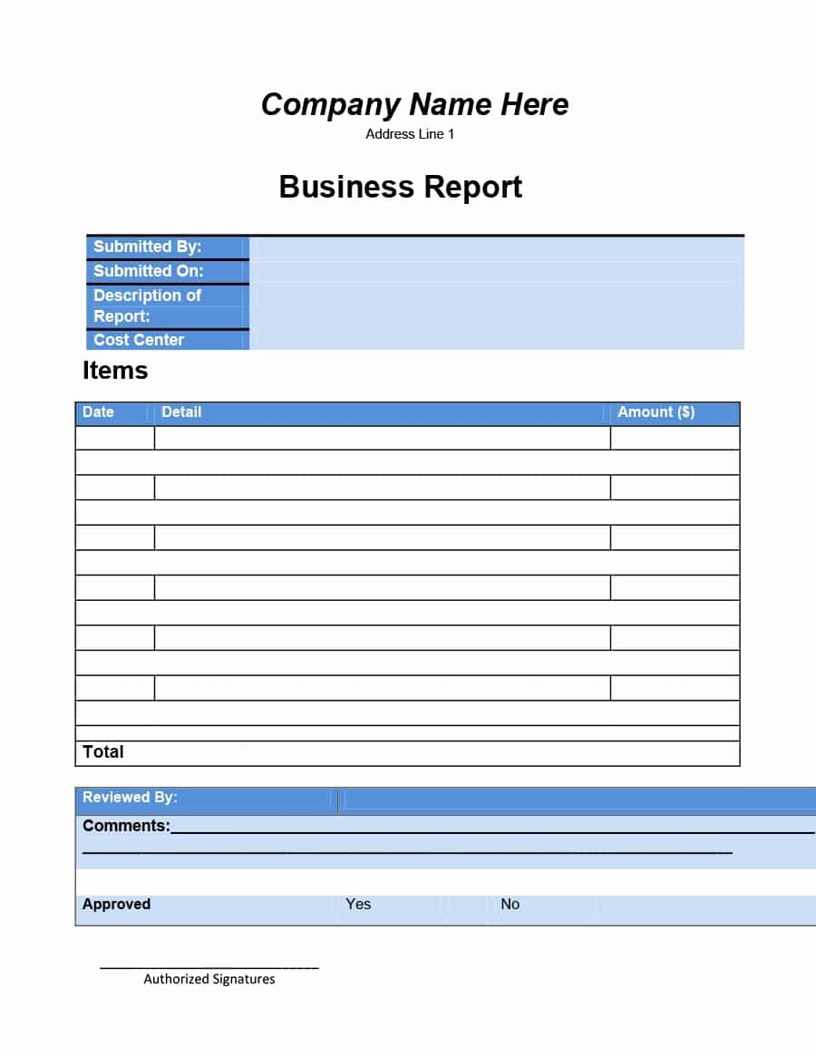 Business Report format Template Luxury 30 Business Report Templates & format Examples Template Lab