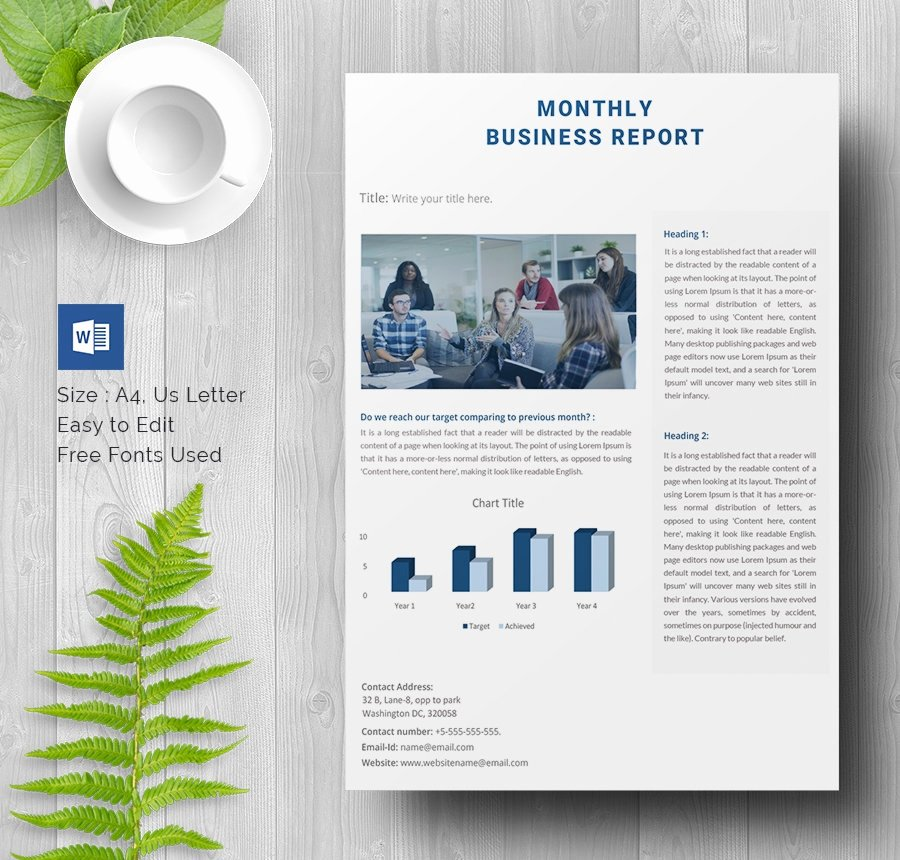 Business Report format Template New 40 Business Report Templates Google Docs Apple Pages