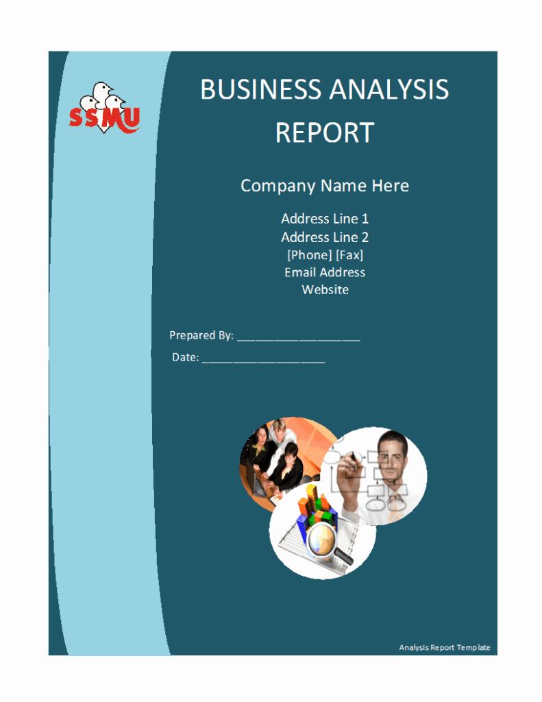 Business Report format Template Unique Business Analysis Report Template Free formats Excel Word