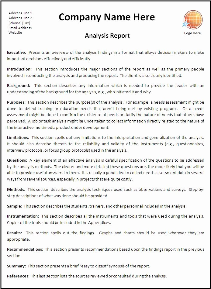 Business Report Template Word Awesome Report Templates