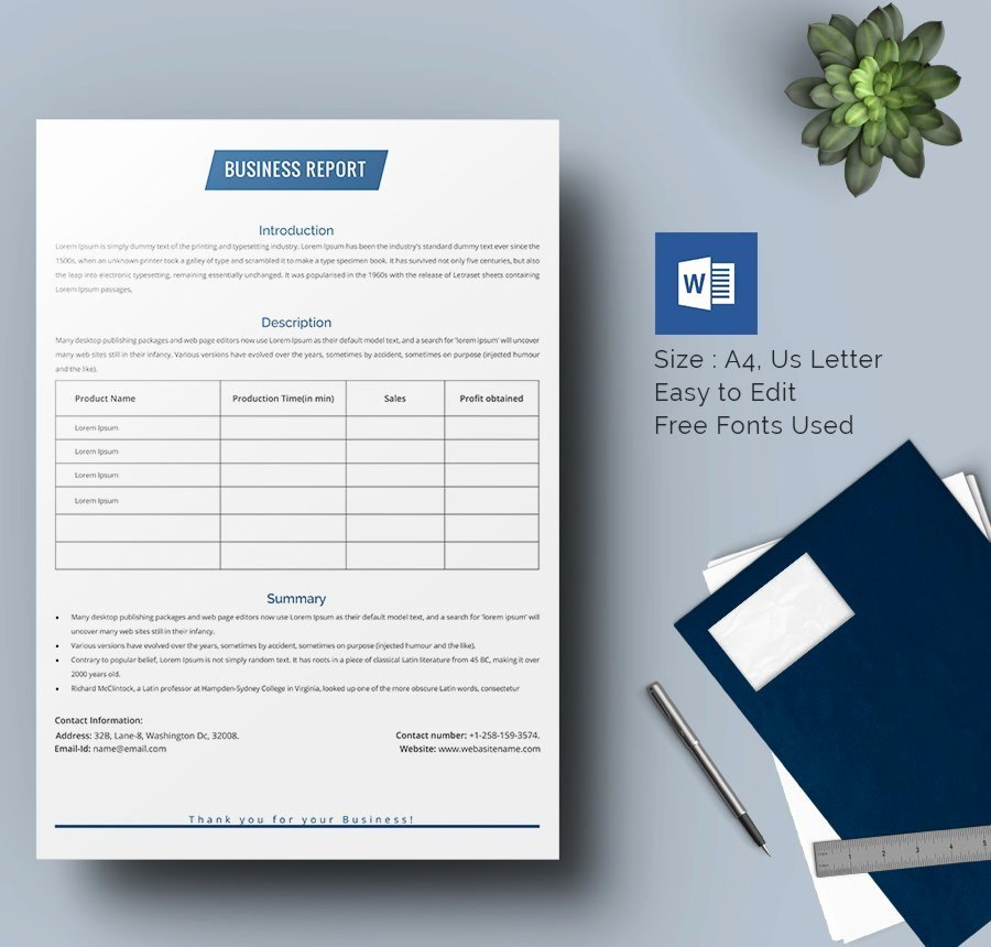 Business Report Template Word Best Of Example Of A Business Report format Image – Relevant