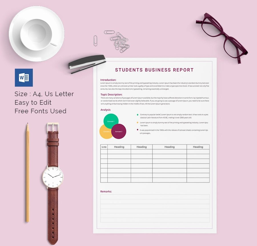 Business Report Template Word Luxury 40 Business Report Templates Google Docs Apple Pages