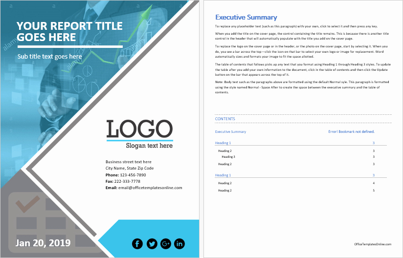 Business Report Template Word New Ms Word Business Report Template