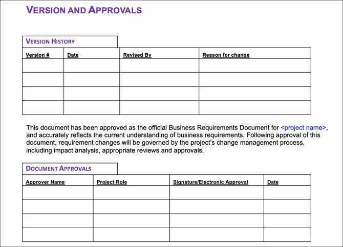 Business Requirements Document Template Word Awesome 6 Free Business Requirements Document Templates for
