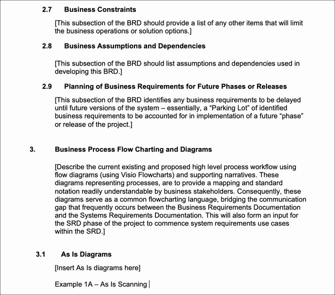 Business Requirements Document Template Word Best Of 6 Free Business Requirements Document Templates for