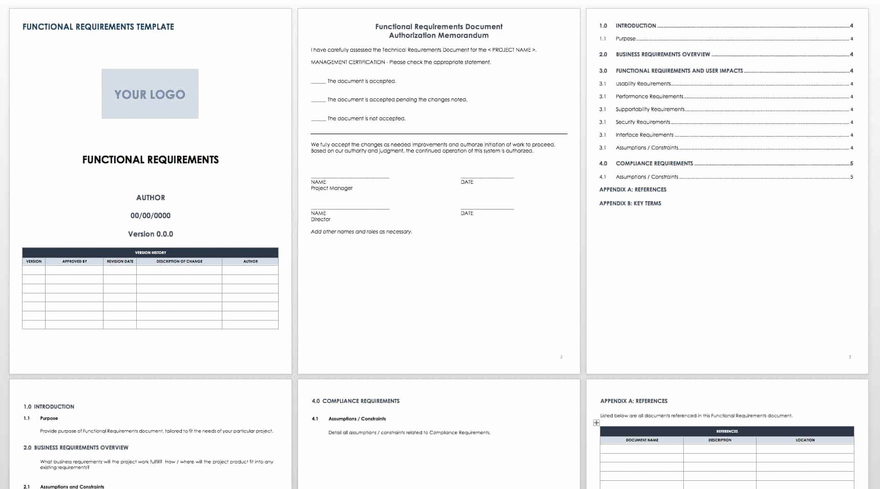 Business Requirements Document Template Word Unique Free Functional Specification Templates