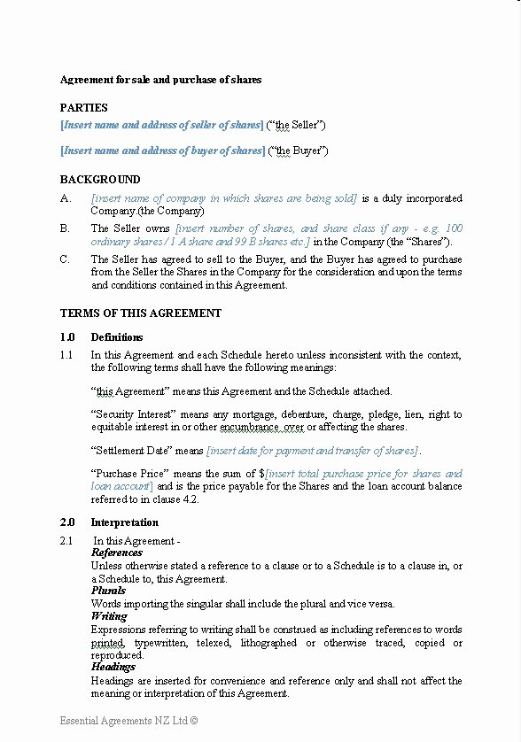 Business Sale Agreement Template Best Of Business – Sale Contracts