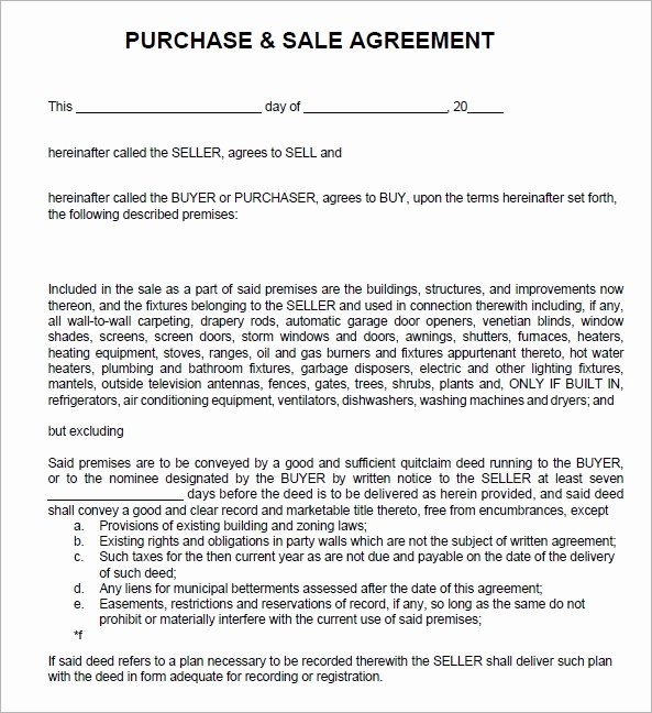 Business Sale Agreement Template Lovely Sales Agreement 6 Free Pdf Doc Download