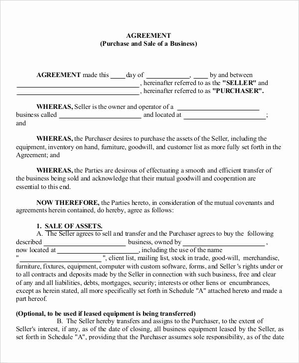 Business Sale Agreement Template New 16 Business Agreement Templates Word Pages Pdf