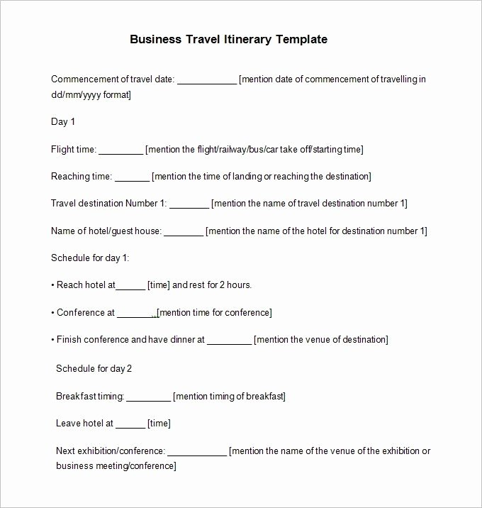 Business Trip Itinerary Template Best Of 33 Travel Itinerary Templates Doc Pdf Apple Pages
