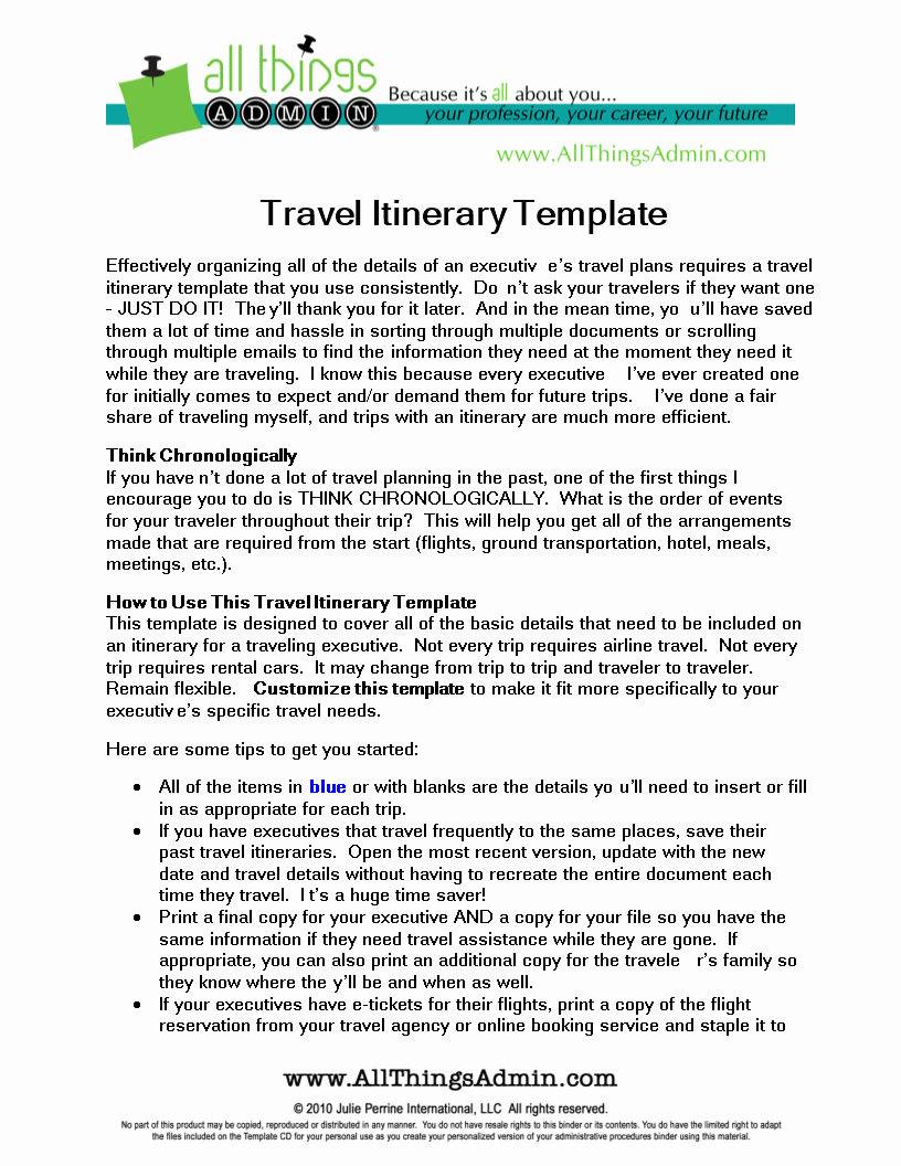 Business Trip Itinerary Template Fresh Business Travel Itinerary