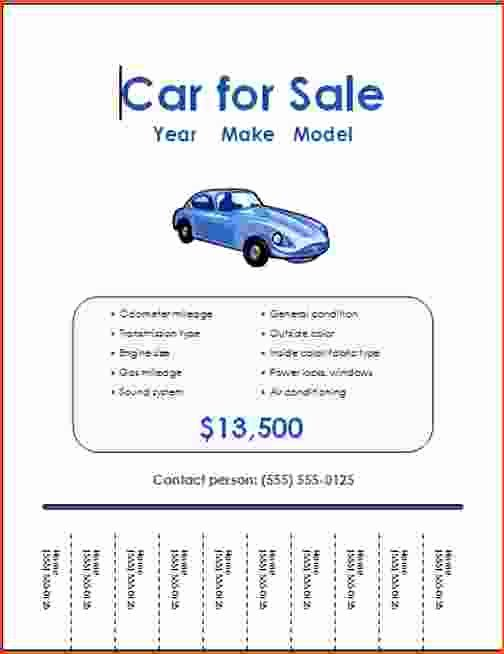 Car for Sale Flyer Template Awesome 5 Free Online Flyer Templates Bookletemplate
