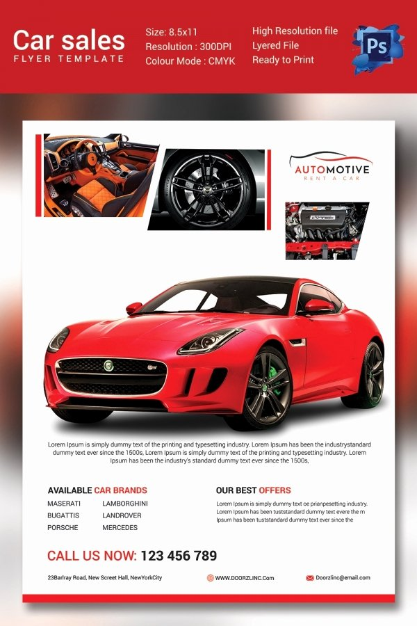 Car for Sale Flyer Template Beautiful Car Sale Driverlayer Search Engine