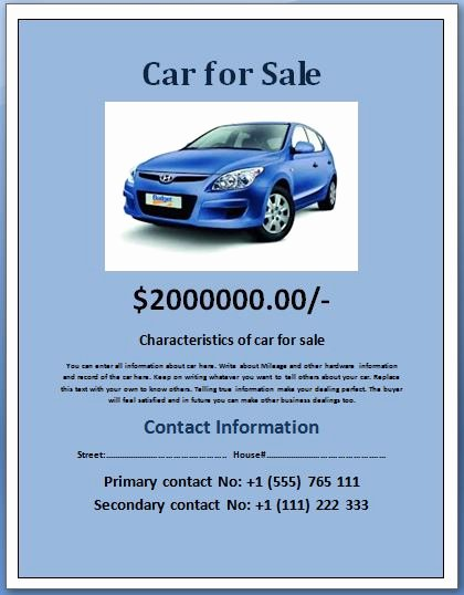 Car for Sale Flyer Template Beautiful Sample Car for Sale Poster Flyer Template