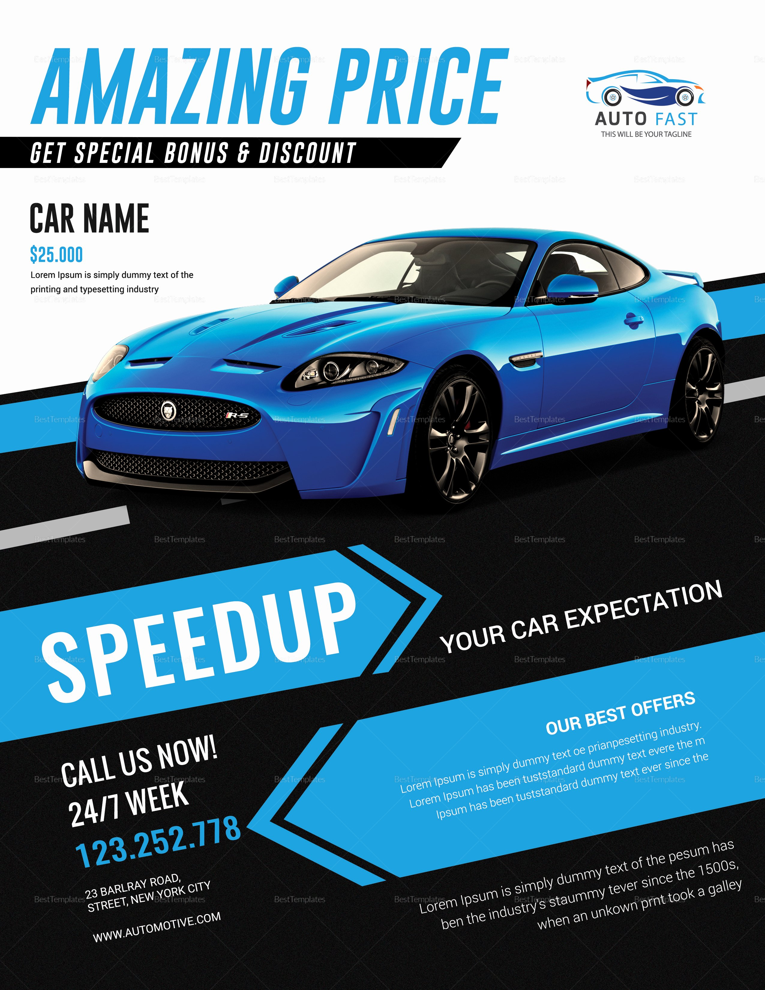 Car for Sale Flyer Template Best Of Car Sales Flyer Design Template In Word Psd Publisher