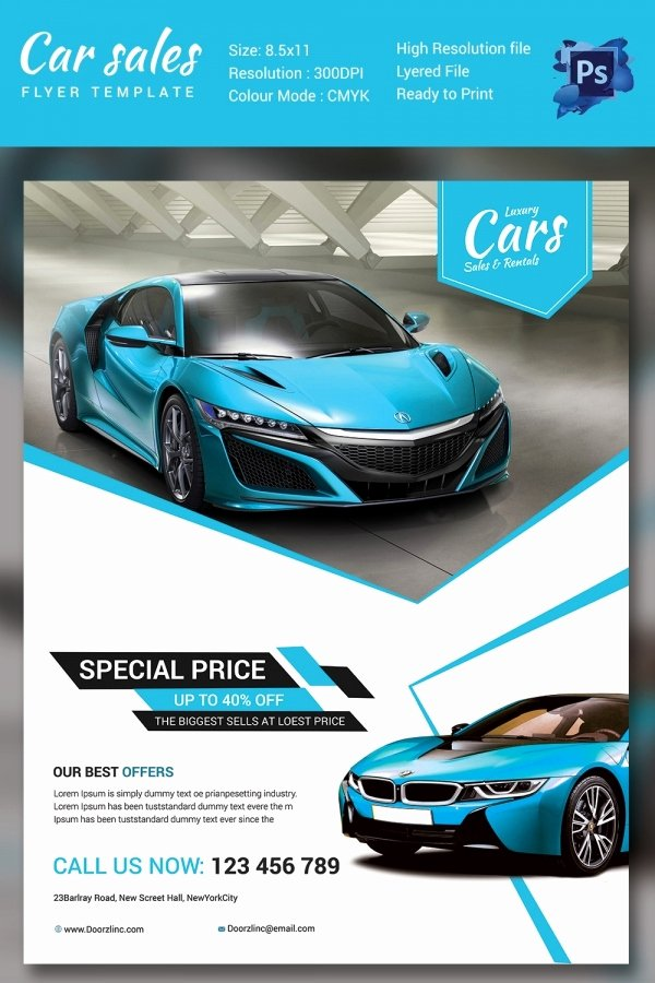 Car for Sale Flyer Template Fresh Auto Sales Driverlayer Search Engine