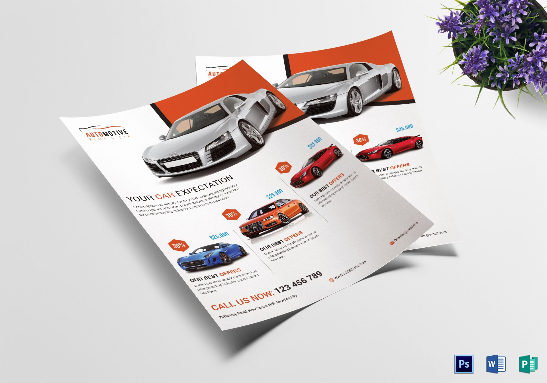 Car for Sale Flyer Template Fresh Automotive Car Sale Flyer Design Template In Psd Word