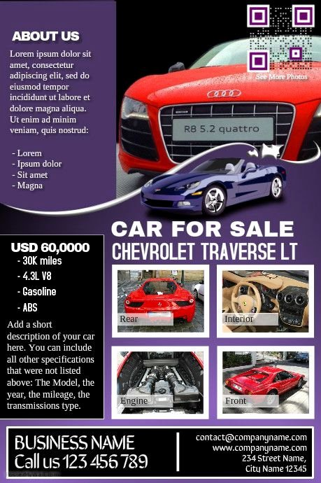 Car for Sale Flyer Template Inspirational Car Deal Flyer Contains Both Car Listing and Business