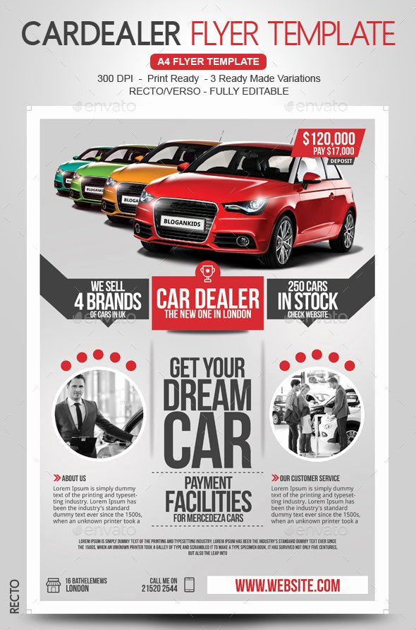 Car for Sale Flyer Template Inspirational Car Flyer Recto Verso by Blogankids