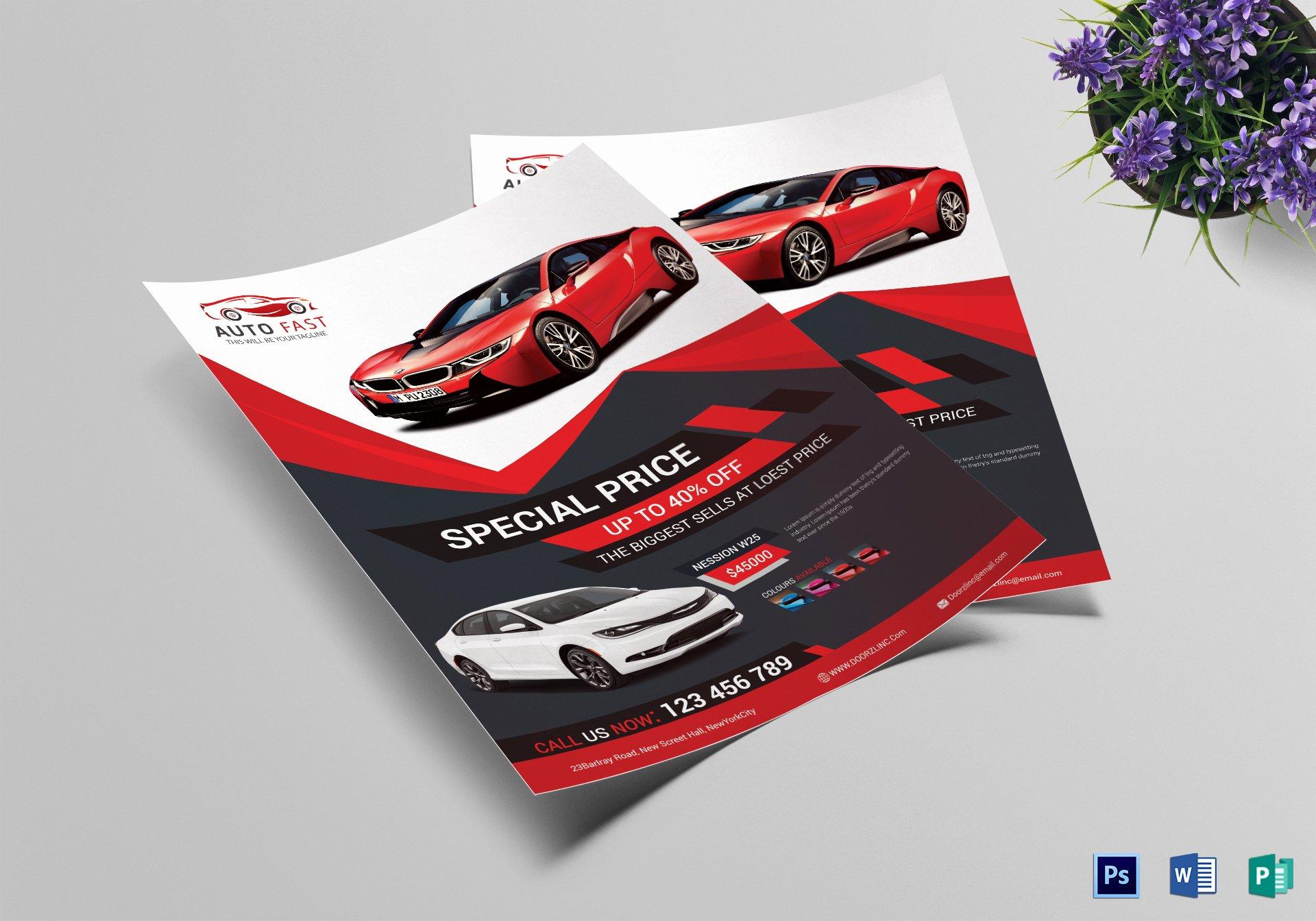 Car for Sale Flyer Template Lovely Elegant Car Sales Flyer Design Template In Word Psd