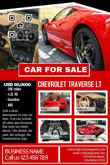 Car for Sale Flyer Template Lovely Pin by Keneisha Lewis On Intro to Gd