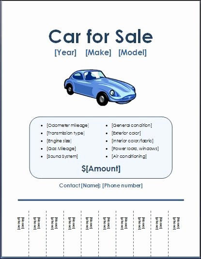 Car for Sale Flyer Template Lovely Sample Car for Sale Poster Flyer Template