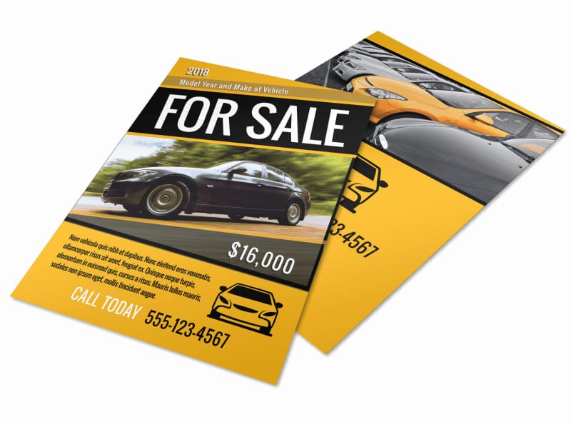 Car for Sale Flyer Template New Car for Sale Flyer Template