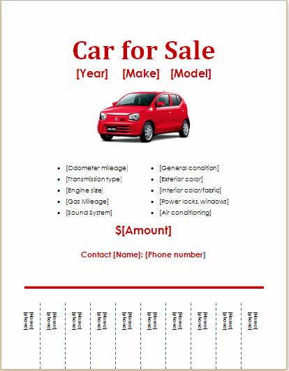 Car for Sale Flyer Template Unique 10 Ms Word Editable Printable Flyer Templates