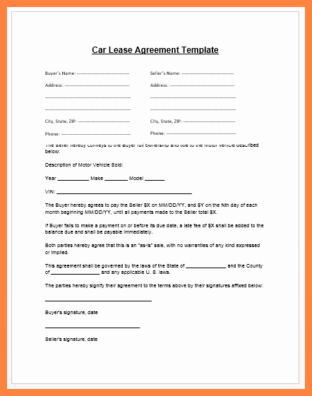 Car Lease Agreement Template Beautiful 5 Pany Property Agreement form