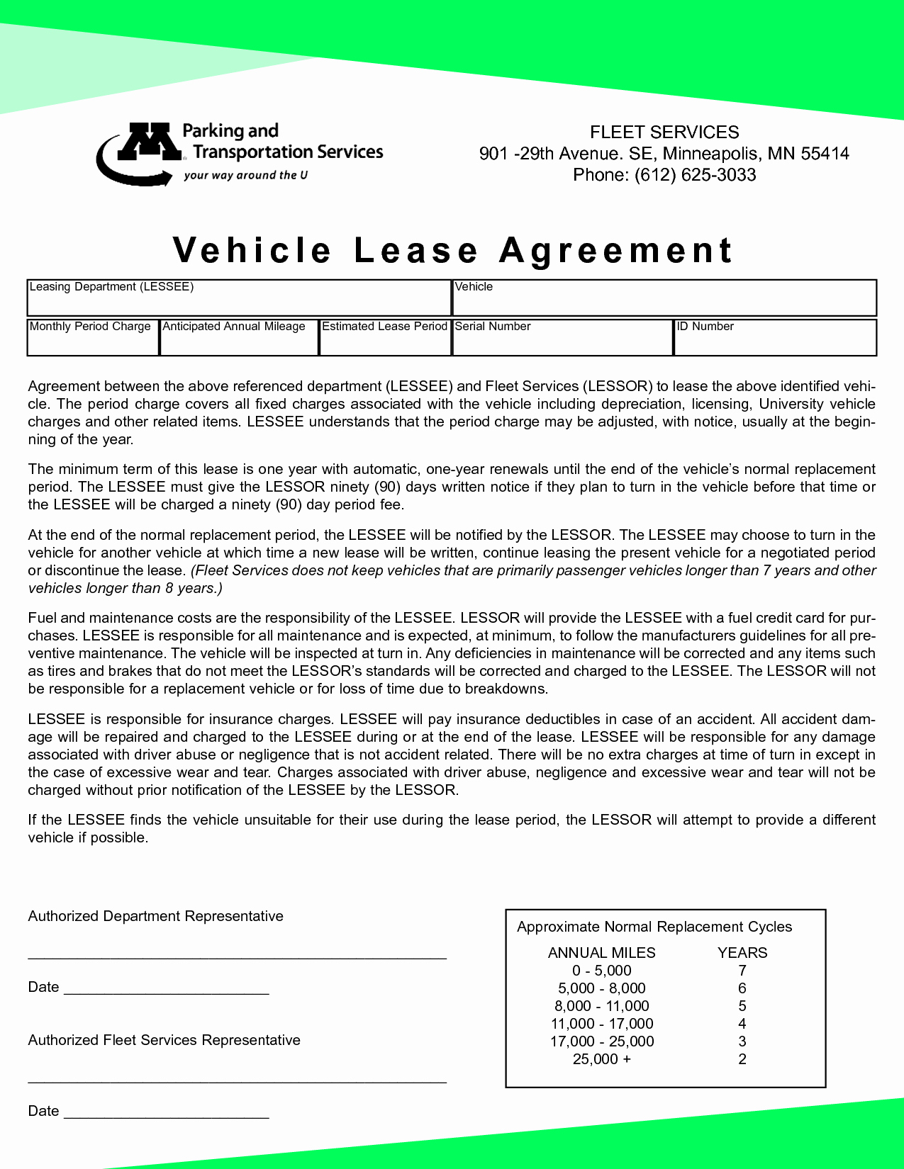 Car Lease Agreement Template Lovely Vehicle Lease Agreement